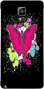 Snoogg Hermosa Mariposa En El Fondo Negro Diseñador Funda Protectora De La Co...
