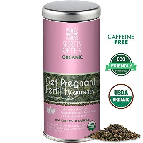 Secrets Of Tea- Get Pregnant Fertility Green Tea- USDA Organic-20 Sachets- 40 servings- Drink Hot or cold