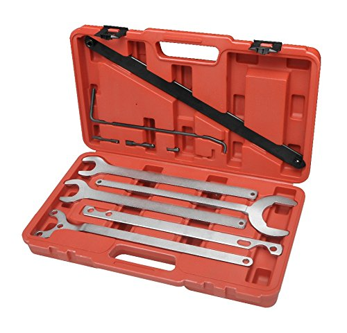 WINMAX TOOLS AUTOMOTIVE Compatible for Fan Clutch Service Water Pump Holder Wrench Service Tool Set for Mercedes Benz BMW ()