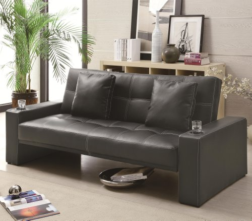 casual-black-faux-leather-adjustable-futon-sofa-bed