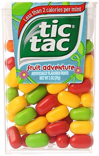 - Tic Tac Mints Fruit Adventure Singles 1 Ounce Pack (12 Count Case Pack)