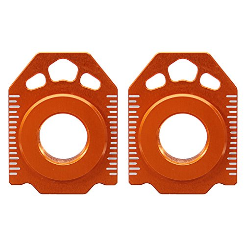 Hitommy Pair CNC Rear Axle Spindle Chain Adjuster Blocks for KTM SX EXC XCW 125-530 20mm