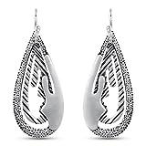 Plain Dangle Earrings in .925 Sterling Silver