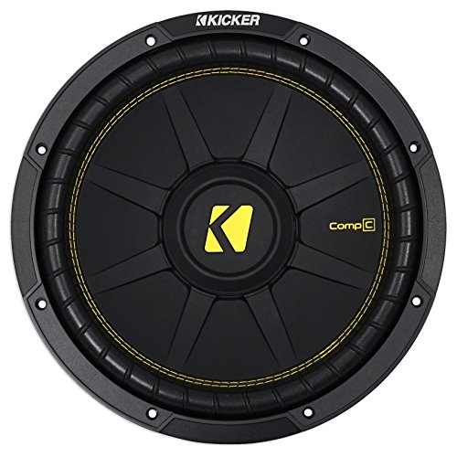 Kicker 12 Inch CompC 300 Watt RMS 4 Ohm Single Voice Coil Subwoofer   44CWCS124 ()