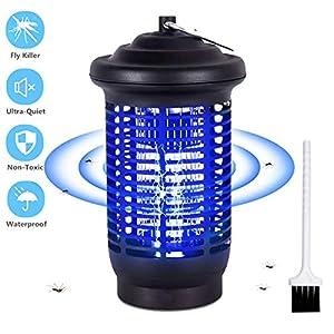 VOKSUN Zanzariera Elettrica, 15W UV Lampada Anti Zanzara 360° Lampada Antizanzare con IPX4 Impermeabile, 2000V Alto… 7 spesavip