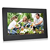 Sungale 10-inch WiFi Cloud Digital Photo Frame w/ High-Resolution 1024600px LED Touch Screen, Free Cloud Storage (Black)