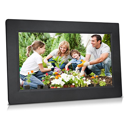 Sungale 10-inch WiFi Cloud Digital Photo Frame w/ High-Resolution 1024600px LED Touch Screen, Free Cloud Storage (Black) by Sungale