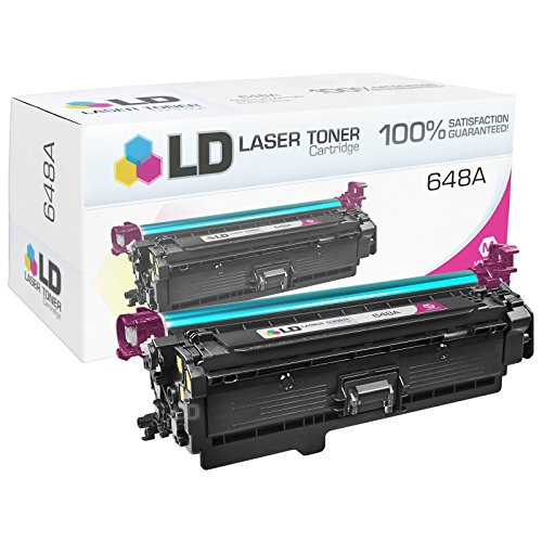 LD © Remanufactured Replacements for HP 647A / 648A Set of 4 Toner Cartridges (Black, Cyan, Magenta & Yellow) for use in Color LaserJet / Enterprise CP4025dn, CP4025n, CP4525dn, CP4525n, CP4525xh Photo #5