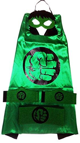 [MyTinyHeroes Children's Superhero Costume - 5 Pc Set - Hulk] (Family Guy Masks Costumes)