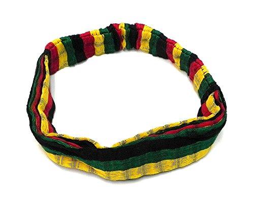 Rasta Head (Rasta Thick Cotton Striped Headband (Rasta Stripes))