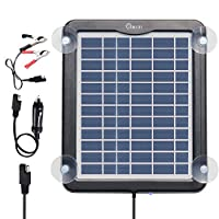 ZEALLIFE Solar Battery Charger, 5W 12V S...