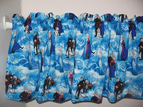 Handmade Disney Frozen Forever Sisters Elsa Anna Olaf Chris Blue Window curtain Valance