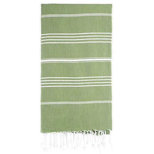 sohoconcept Hand Face Turkish Towel Pestemal 23x36 Peshtemal Kitchen Hand Towel Baby Care (Olive Green)