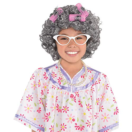 AMSCAN Grandma Costume Accessory Kit for Girls, One Size, 3 -