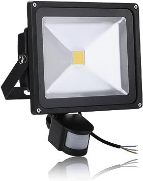 2X 30W LED Floodlights PIR Sensor Security Garden Outdoor Yard Warm White IP65