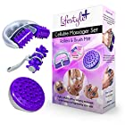 3-PIECE Anti-Cellulite Massager Set w/ Cellulite Roller, Brush Mitt, and Hand Roller