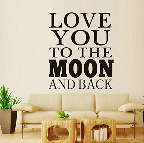 ponana Love You to The Moon and Back Vinyl Mural Art Wall Sticker Decal Classic Movie Lines Sticker DIY Poster for Kid Nursery Children 58X69Cm