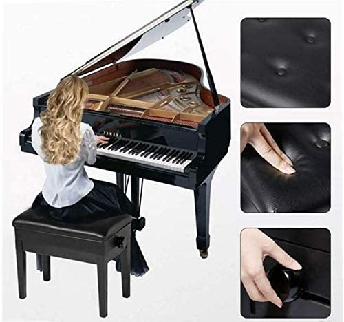 純木の重いピアノ腰掛けの高さの調節可能な黒檀