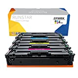 Run Star 202X CF500X CF501X CF502X CF503X Compatible Toner Cartridge Work for Color LaserJet Pro MFP M281dw M281cdw M281fdw M280 M254dw M254nw Printer, 4 Packs