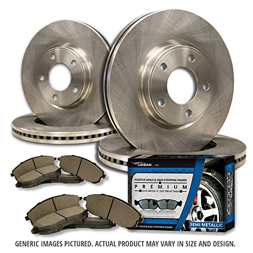 (F+R Full Kit) 4 OEM Replacement Great-Life Premium Disc Brake Rotors + 8 Semi-Met Pads(Works with 5lug)-Combo Brake Kit-[SHIPS FROM USA!!-Tax (Chrysler Replacement Brake Rotor)