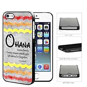 Ohana Means Family Red Color Tone Waves iPhone 5 5s Hard Snap on Plastic Cell Phone Cover