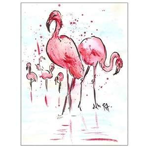 Flamingoes - Watercolor