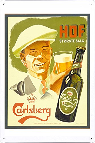 tin-sign-metal-poster-plate-8x12-of-carlsberg-pilsner-hof-1930-by-food-beverage-decor-sign
