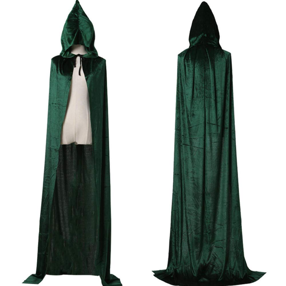 Velvet Witch Death Gown Cloak @ 170Cm/_Gray HMShun Capa De Halloween Cosplay Para Adultos