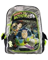 """Disney Toy Story Backpack (16"""") - Buzz Woody Light Up backpack w/ ID Tag"""