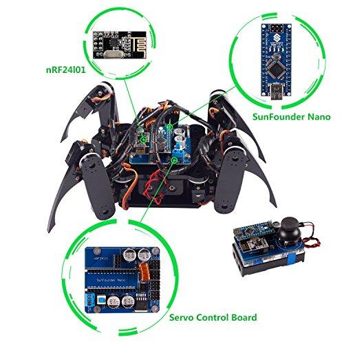 image Kit de robot à quatre pattes SunFounder DIY pour Arduino avec télécommande Nano Board