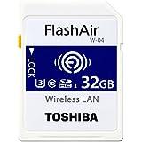 TOSHIBA FlashAir W-04 国内版 バルク プラケース入り 無線LAN搭載 SDHC メモリカード SD-UWAシリーズ (32GB)