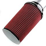 Silver Aluminum Cold Air Intake Pipe + Heat