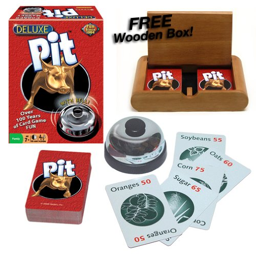 Deluxe Pit with Bell! Plus FREE Wooden (Pit Card Game Rules)