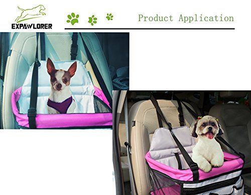 Amazon EXPAWLORER Pet Booster Seat Carrier Car Multi Function Deluxe Travel Bag Small Dogs Supplies