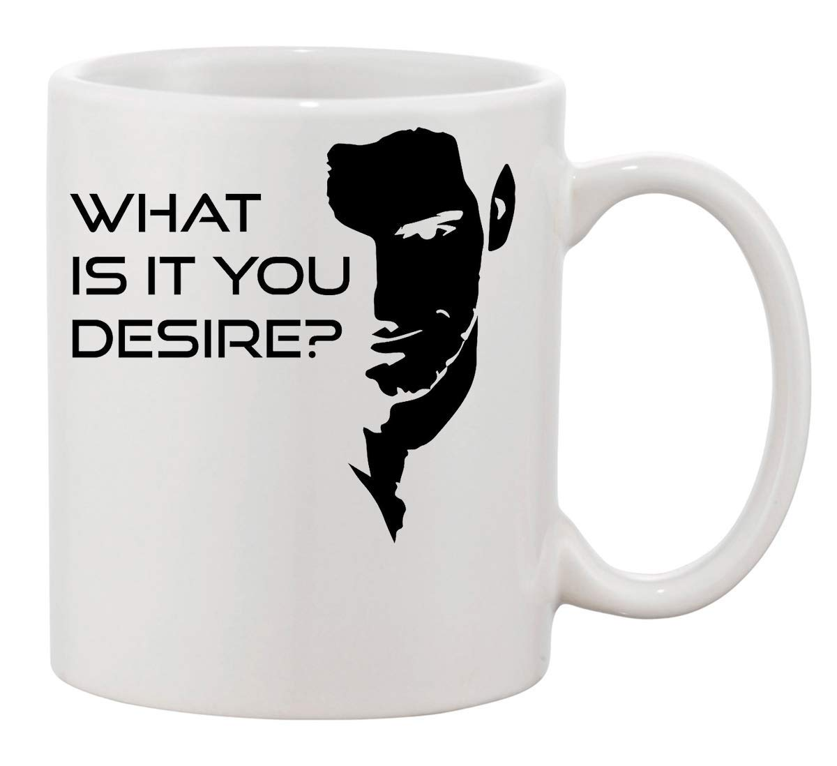 Lucifer caff/è Tazza Coffee Mug Cup KRISSY What Is It You Desire