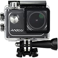 Andoer 4K Action Sports Camera 30FPS 1080P 60FPS Full HD DV 16M 2.0in LTPS LCD Screen Wifi Waterproof 173°Wide Angle Outdoor Camcorder Digital Cam Video Car DVR