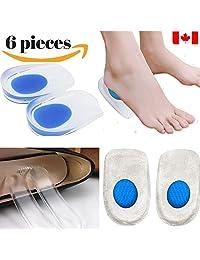 Dr Go - Heel Pain Relief Kit - 6 Piece of Heel Pain, Heel Spurs Pads, Plantar Fasciitis, Baxter's Nerve, Neuritis, Achilles Pain Cushion, Foot Pain Pads 4