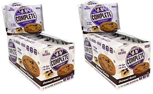 Lenny & Larry's The Complete Cookie, Oatmeal Raisin, 4-Ounce Cookies (Pack of 24) by Lenny & Larry's (Image #1)
