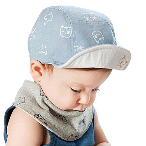 67befc7ac21 Cartoon Kitten Kids Toddler Baby Boy Girl Baseball Hat Beanie Cap Summer Sun
