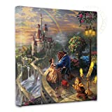 """Thomas Kinkade - Gallery Wrapped Canvas , Beauty and the Beast Falling in Love , 14"""" x 14"""" , 55392"""