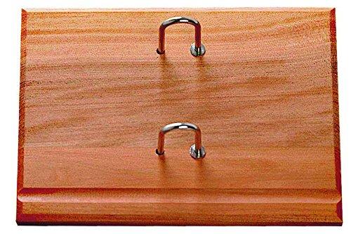 Base in legno con due anelli per calendario a blocco di 8,5 x 11,5 cm Legas