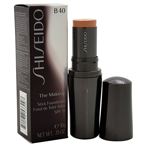 (Shiseido The Makeup Stick SPF 15# B40 Natural Fair Beige Foundation for Women, 0.35 Ounce )