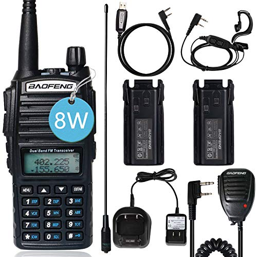 BAOFENG 2 Way Radios Baofeng UV-82 High Power Walkie Talkies Dual Band Ham Radio