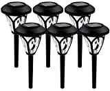 Sogrand Solar Pathway Lights Outdoor Garden Path Decorative Stake Light Landscape Home Decor Waterproof Bright White LED Yard Decorations Stakes For Outside Walkway Driveway Patio 6Pack