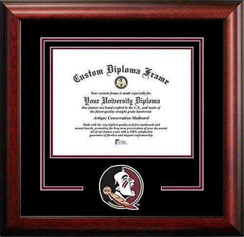Florida State Seminoles大学 – カレッジMascot – Spiritマットカットアウト – 卒業証書フレーム  Diploma Size - Up To 17 x 22