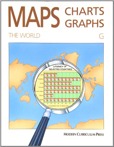 MAPS, CHARTS AND GRAPHS, LEVEL G, THE WORLD (Maps Charts And Graphs Level A compare prices)