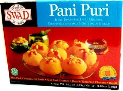 Swad Pani Puri Kit (Puffed Wheat Snack with Mouth Watering Chutneys) - 9.89 Ounces, 280 Grams