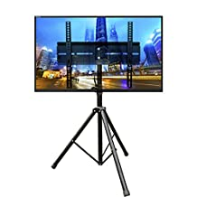 DURAMEX (TM) Universal Mobile Portable Tripod TV Stand with Mount for 32 - 55 inch LED, LCD, Plasma, and Curved Displays up to 110 lbs