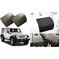 Nicebee Nicebee 2Pcs Black Cowl Body Armor Powder Coated Finish Outer Cowling Cover for JEEP Wrangler JK
