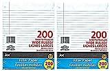 Wide Ruled Loose Leaf Binder Notebook Filler Paper (400 Sheets